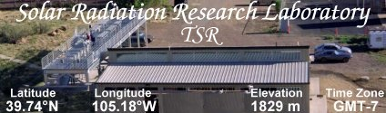 Solar Radiation Research Laboratory (YES TSR)